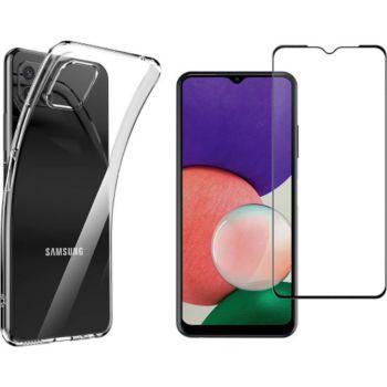 Xeptio Samsung Galaxy A22 5G tpu et full noir