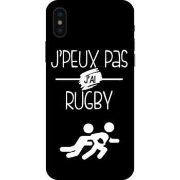 Lookmykase Coque j'peux pas j'ai rugby  iPhone Xs