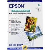 Papier photo Epson mat archival A4 50 feuilles 192g