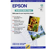 Papier photo Epson mat archival A4 50 feuilles 192g
