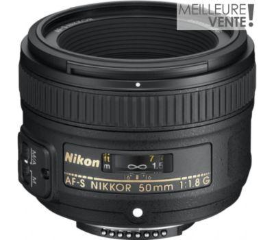 Objectif pour Reflex Nikon AF-S 50mm f/1.8G Nikkor