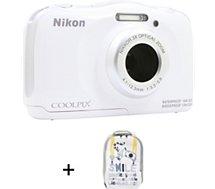 Appareil photo Compact Nikon Coolpix W100 Blanc + sac à dos