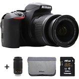 Appareil photo Reflex Nikon  D5600 + 18-55 + 70-300VR + Etui + 16Go
