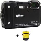 Appareil photo Compact Nikon  Coolpix W300 Noir + Sac étanche