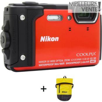 Nikon Coolpix W300 Orange + Sac étanche