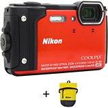 Appareil photo Compact Nikon  Coolpix W300 Orange + Sac étanche