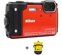 Appareil photo Compact Nikon Coolpix W300 Orange + Sac étanche