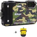 Appareil photo Compact Nikon  Coolpix W300 Camouflage + Sac étanche