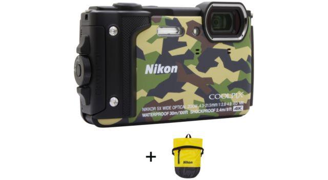 appareil photo compact nikon coolpix w300 camouflage sac. Black Bedroom Furniture Sets. Home Design Ideas