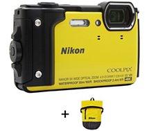 Appareil photo Compact Nikon Coolpix W300 Jaune + Sac étanche