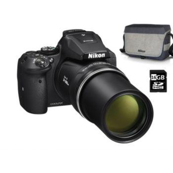 Nikon Pack P900 noir + Etui premium + SD 16Go