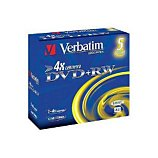 DVD vierge Verbatim DVD+RW 4.7GB 5PK P5 Jewel case 4x