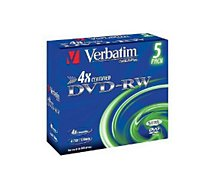 DVD vierge Verbatim  DVD-RW 4.7GB 5PK P5 Jewel case x4
