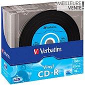 CD vierge Verbatim CD-R Data Vinyl 700MB 10PK Slim 52x