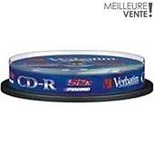 CD vierge Verbatim CD-R 700MB 10PK Spindle 52x