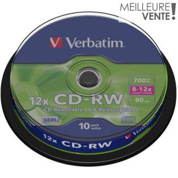 Verbatim CD-RW 700MB 10PK Spindle  8-12x