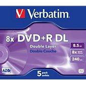 DVD vierge Verbatim DVD+R Double 8.5GO 5PK Double layer 8x