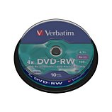 DVD vierge Verbatim DVD-RW 4.7GB 10PK Spindle 4x