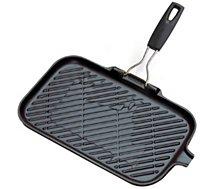 Poêle grill Le Creuset  noir 36 cm fonte poignée silicone