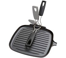 Poêle grill Le Creuset  noir 24 cm fonte poignée silicone