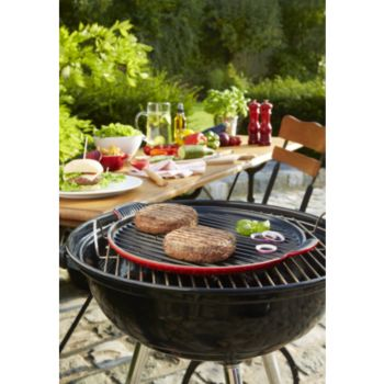 le creuset grill rond g ant diam 32cm cerise po le boulanger. Black Bedroom Furniture Sets. Home Design Ideas