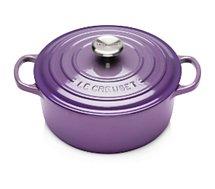 Cocotte ronde Le Creuset  Signature ultra violet 24 CM
