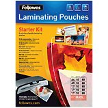 Reliure dossier Fellowes  Starter kit plastification 80 microns