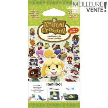 Nintendo 3 cartes Animal Crossing Série 1