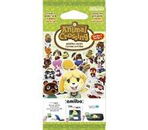 Pack cartes Amiibo Nintendo  3 cartes Animal Crossing Série 1