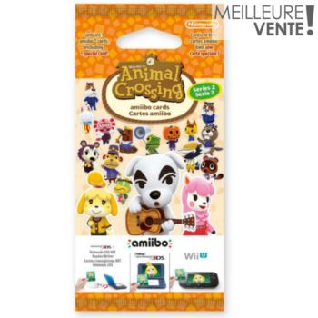 Nintendo 3 cartes Animal Crossing Série 2