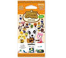 Pack cartes Amiibo Nintendo  3 cartes Animal Crossing Série 2