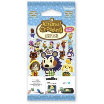 Nintendo 3 cartes Animal Crossing Série 3