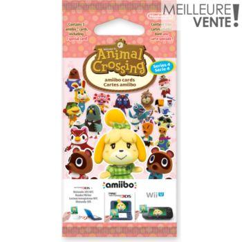 Nintendo 3 cartes Animal Crossing Série 4
