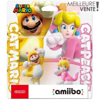 Nintendo Pack 2x Mario Chat et Peach Chat