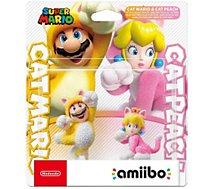 Figurine Amiibo Nintendo  Pack 2x Mario Chat et Peach Chat