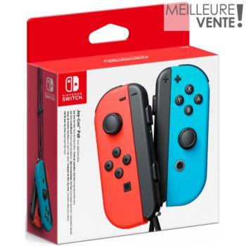Nintendo Paire de Manettes Joy-Con Rouge/Bleu