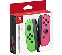 Manette Nintendo  Paire de Manettes Joy-Con Vert/Rose