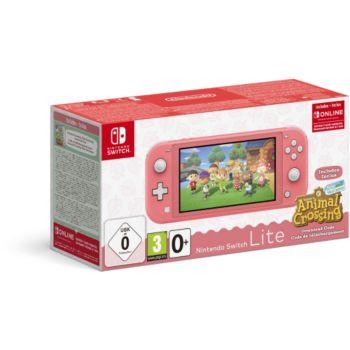 Nintendo Switch Lite Corail+AC+contenu