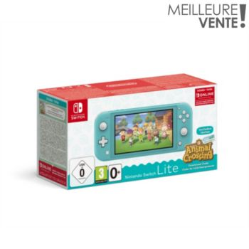Nintendo Switch Lite Turquoise+AC+contenu