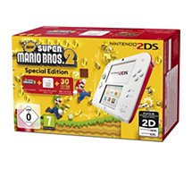 Console 2DS Nintendo Blanche/Rouge + New Super Mario Bros 2
