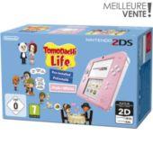 Console 2DS Nintendo Rose/Blanche + Tomodachi Life
