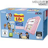 Console 2DS Nintendo Rose/Blanche + Tomodachi Life