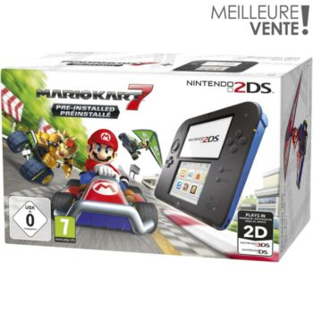 Nintendo Noire et Bleue + Mario Kart 7
