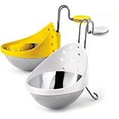 Pocheuse à oeufs Cuisipro acier inoxydable X 2 - jaune/blanc