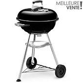 Barbecue charbon Weber COMPACT KETTLE 47 cm noir