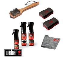 Nettoyant barbecue Weber  KIT NETTOYAGE BBQ CHARBON EMAILLE