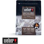 Allume feu Weber de 22 cubes allume-feux blancs