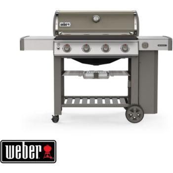 Weber Genesis II E-410 GBS plancha smoke grey