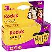 Pellicule Kodak GOLD 200 135-24 - Tripack