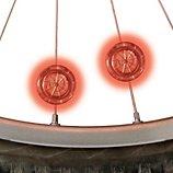 Lumière Nite Ize  LED pour roue vélo Rouge